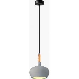 Stylowa Lampa betonowa wisząca Rigel 17 Ciemno szara Lumatix do przedpokoju.