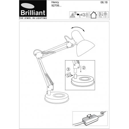Henry chrome desk lamp Brilliant
