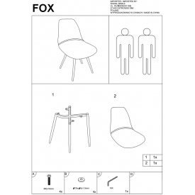Krzesło Tina Black z tworzywa
