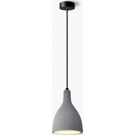 Stylowa Lampa betonowa wisząca Sargas 13 Ciemno szara Lumatix do przedpokoju.