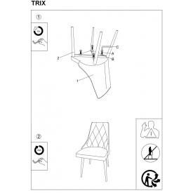 Stylowy Stół prostokątny Loras A Wood 150 Signal do jadalni. Kolor dąb z czarnym, dąb z białym, stelaż/podstawa metalowa. Styl