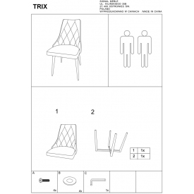 Stylowy Stół prostokątny Loras A Wood 180 Signal do jadalni. Kolor dąb z czarnym, dąb z białym, stelaż/podstawa metalowa. Styl