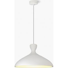 Stylowa Lampa gipsowa wisząca Shaula 40 Biała Lumatix do przedpokoju.