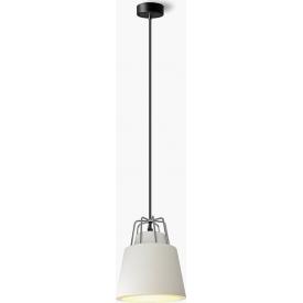 Stylowa Lampa betonowa wisząca Tiaki 16 Jasnoszara Lumatix do przedpokoju.