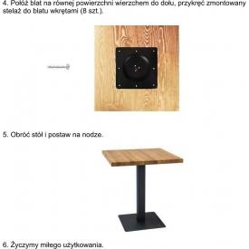 Zegar Ribon drewniany