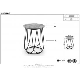 Stylowy Stół prostokątny Bernardo 180 Wood Signal do salonu. Kolor dąb, stelaż/podstawa metalowa. Styl industrialny.