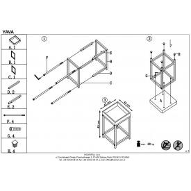 Stylowy Stół prostokątny Braga II 140 Signal do salonu. Kolor biały, stelaż/podstawa drewniana. Styl skandynawski.
