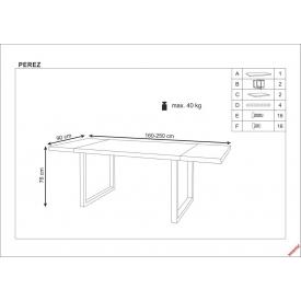 Rozkładany stół Cesar 140 Signal