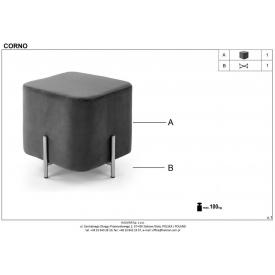 Stylowy Stół prostokątny Marcello 180 Wood Signal do salonu. Kolor dąb, stelaż/podstawa metalowa. Styl industrialny.