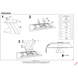 Kwadratowy stół Puro 60 Signal