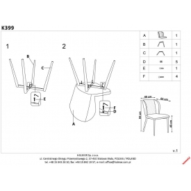 Stylowy Stół kwadratowy Puro Wood 70 Signal do salonu. Kolor dąb, stelaż/podstawa metalowa. Styl industrialny.
