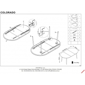 Stół okrągły Vasco Wood 90 Signal do kuchni. Kolor dąb, stelaż/podstawa metalowa Styl industrialny.