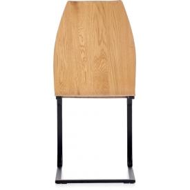 Stylowy Stół prostokątny Egon 120 Signal do salonu. Kolor biały, stelaż/podstawa metalowa. Styl skandynawski.