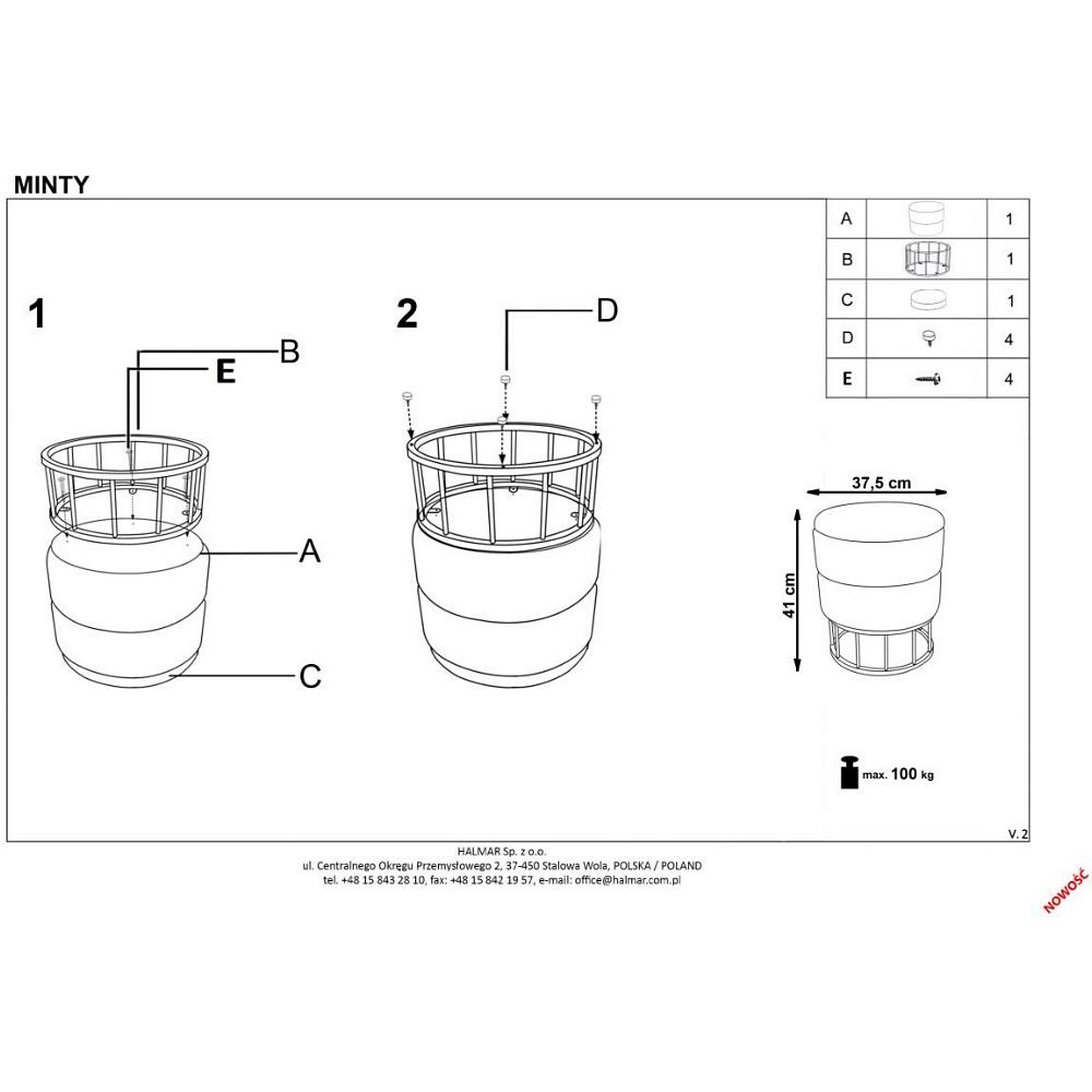 Prostokątny Szklany Stół Allegro 160 Halmar Blowupdesignpl