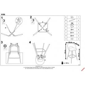 Designerskie Krzesło K308 z tworzywa Halmar do kuchni. Kolor biały, Styl nowoczesny.