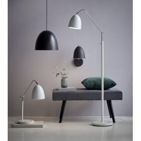 Stylowa Lampa biurkowa Aslak Nordlux na biurko. Kolor biały, czarny, Styl industrialny.