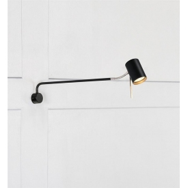 Stylowa Lampa stołowa Aud Nordlux do salonu. Kolor czarny, Styl industrialny.