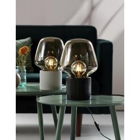 Stylowa Lampa stołowa Dean Disc Nordlux do salonu. Kolor czarny, mosiądz, Styl minimalistyczny.