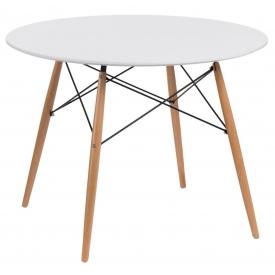 Stylowy Stół okrągły skandynawski DTW 100 Biały Intesi do jadalni, kuchni i salonu.