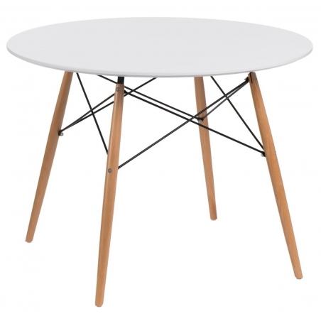 DTW 100 white round scandinavian dining table Intesi