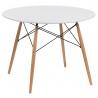 Stół okrągły DTW 100 Intesi do jadalni. Kolor biały