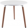 Copine 80 white round scandinavian dining table Intesi
