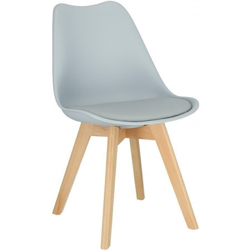 Norden Cross light grey scandinavian cushion chair Intesi