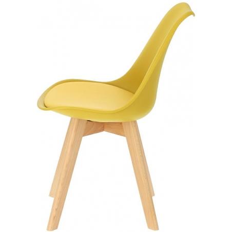 Norden Cross yellow scandinavian cushion chair Intesi