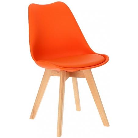 Norden Cross orange scandinavian cushion chair Intesi