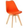 Stylowe Krzesło skandynawskie z poduszką Norden Cross Pomarańczowe Intesi do jadalni i salonu.
