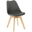 Tapicerowane krzesło Hiko Intesi do jadalni. Kolor: jasny brąz, ciemny brąz, stelaż/podstawa metalowa. Styl nowoczesny, w cenie
