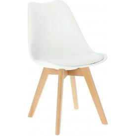 Norden Cross white scandinavian cushion chair Intesi