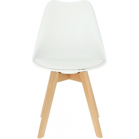 Norden Cross white scandinavian cushion chair Intesi