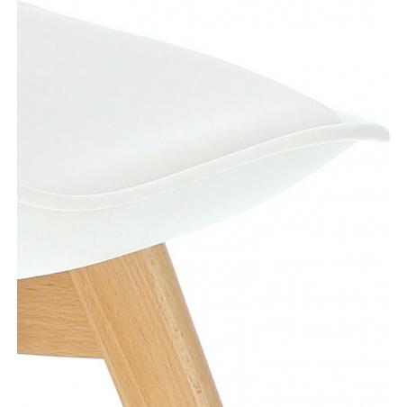 Stylowe Krzesło skandynawskie z poduszką Norden Cross Białe Intesi do jadalni i salonu.