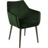 Nora dark green velvet armchair with wooden legs Actona