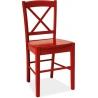 Stylowe Krzesło drewniane CD56 Wooden Czerwone Signal do jadalni.