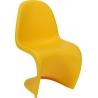 Designerskie Krzesło z tworzywa Balance Żółte D2.Design do kuchni i salonu.