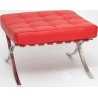 Barcelon (Otoman) red quilted leather footstool insp. D2.Design