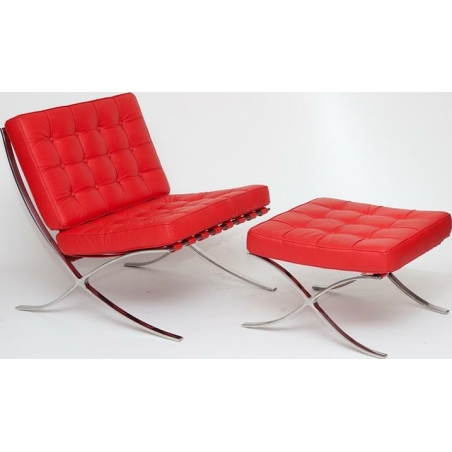 Barcelon Single red leather quilted armchair D2.Design