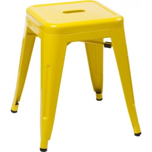 Paris yellow industrial metal stool D2.Design