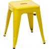 Stylowy Taboret metalowy Paris Żółty D2.Design do kuchni i przedpokoju.