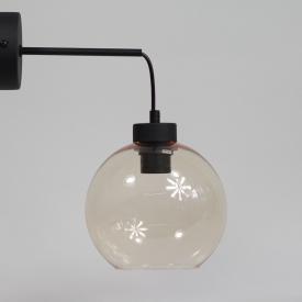 Szklana lampa wisząca Solaris Step Into Design do salonu. Kolor biały, Kształt kulisty i półkulisty, Styl inspirowane.