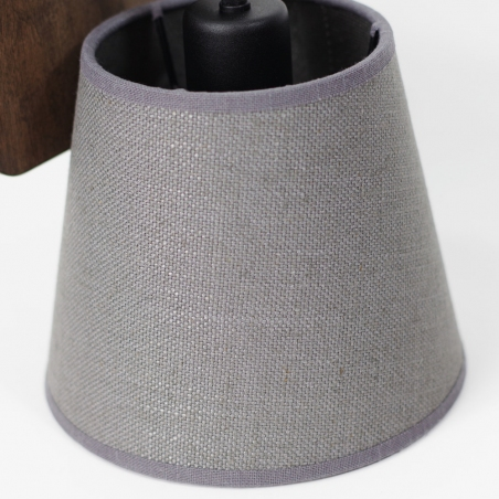 Livid grey wooden wall lamp with shade