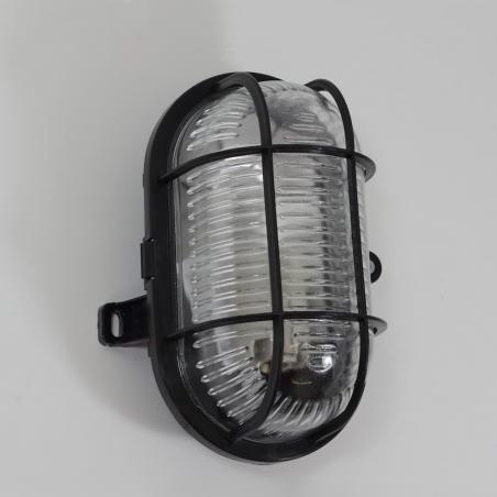 Skot black industrial wall lamp
