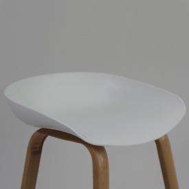 Balkonowe Krzesło Skin White z podłokietnikami Resol. Kolor biały, czekoladowy, szary, czarny, Styl nowoczesny.