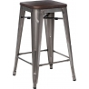 Paris Wood 65 walnut&metal industrial bar stool D2.Design