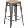 Paris Wood 65 natural&metal industrial bar stool D2.Design