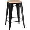 Paris 75 Wood natural&black metal bar stool D2.Design