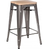 Paris 75 Wood natural&metal industrial bar stool D2.Design