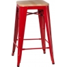 Paris 75 Wood natural&red industrial bar stool D2.Design